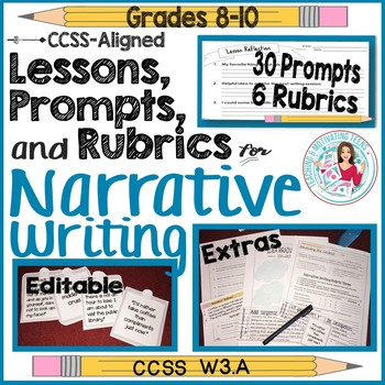 Narrative Writing Prompts, Lessons, Rubrics, Resources - Quotes from Literature