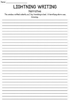 Narrative Writing Prompts - Perfect for assessment or lightning writing