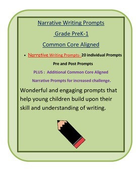 Narrative Writing Prompts- PreK -1