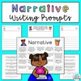 Narrative Writing Prompts: Printable and Digital Google Slides