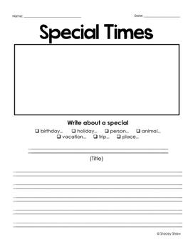 Narrative Writing Prompts Templates - Packet (Bundle)