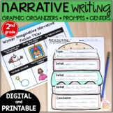 Narrative Writing Prompts and Graphic Organizers - printable & digital 2nd grade