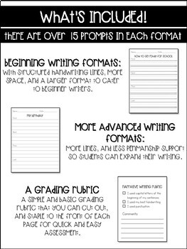 Narrative Writing Prompts and Template