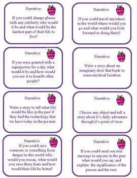 Narrative Writing Prompts for Journal Writing or Essays