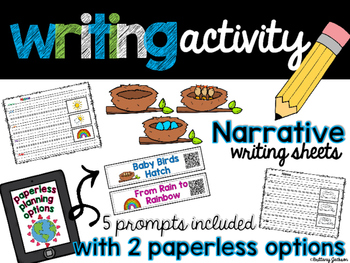 Narrative Writing Prompts with Paperless Options