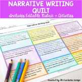 Narrative Writing Choice Board