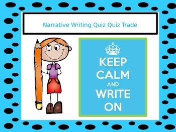 Narrative Writing Elements Quiz Quiz Trade Writing Game