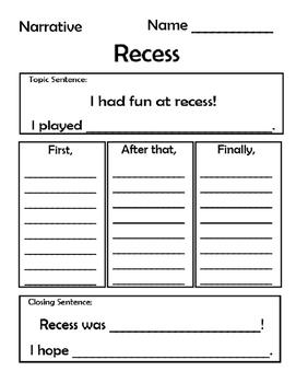 Narrative Writing- Recess