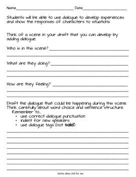 Dialogue - Dialogue Tags - Narrative Writing - Revise to Add Dialogue
