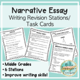 Writing Revision Stations (Narrative) and Writing Revision Task Cards