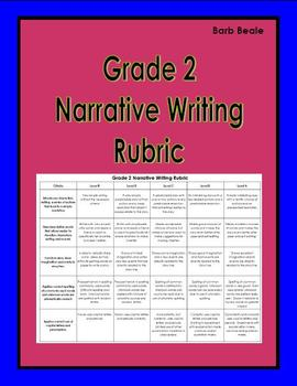 Narrative Writing Rubric - Grade 2 - FREEBIE - 1 page