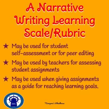 Narrative Writing Rubric/Learning Scale