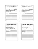 Narrative Writing Rubric Scoring Sheet- Smarter Balanced Aligned