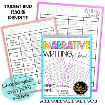 Narrative Writing Rubric Student and Teacher Friendly