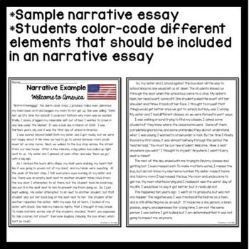 Narrative Writing Sample for Analysis- color coding- on bullying, discrimination