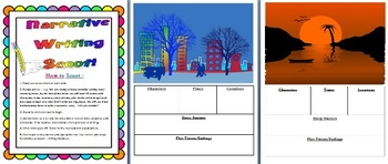 Narrative Writing Scoot Lesson - Links easily to Core Curriculum Gr3-8