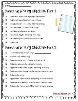 Narrative Writing Self-Edit and Peer Edit Rubric