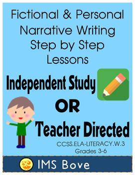 Narrative Writing Self Guided Step by Step CCSS.ELA-LITERACY.W.3