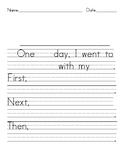 Narrative Writing Tools Sentence Frames - Writing Paper - Graphic Organizer