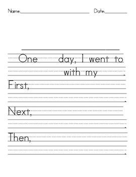 Narrative Writing Tools Sentence Frames - Writing Paper - Graphic Organizer
