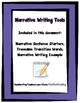 Narrative Writing Tools Sentence Frames - Writing Paper -