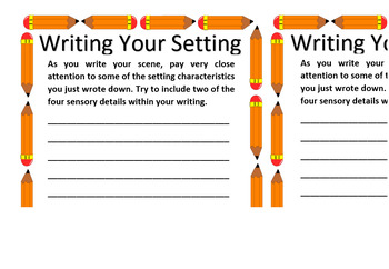 Narrative Writing - Setting