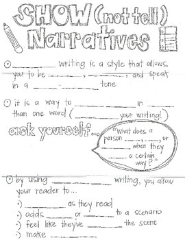 Narrative Writing-Show (Not Tell)