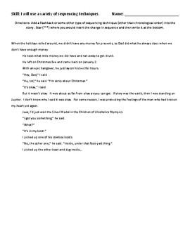 Narrative Writing Skill Reteach: Sequencing
