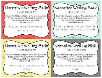 Narrative Writing Skills Task Cards