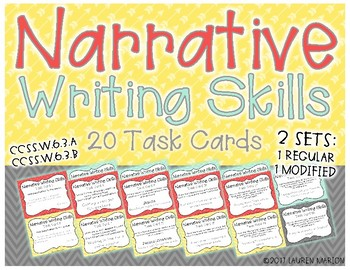 Narrative Writing Skills Task Cards