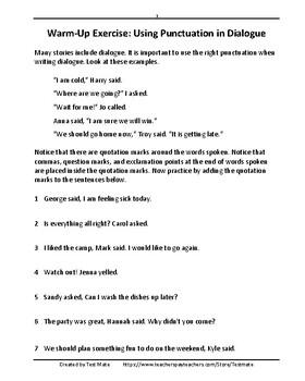 Narrative Writing Skills: Using Dialogue (Common Core Writing)
