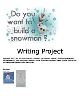 Narrative Writing: Snowman Project