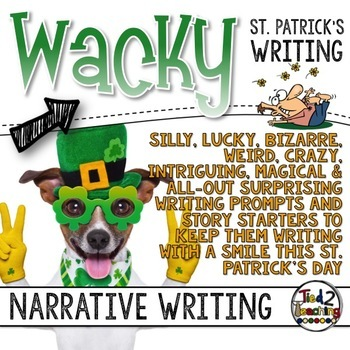 Narrative Writing - St. Patrick's Day Task Cards - Standards Based Writing