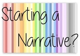 Narrative Writing Starting Prompts