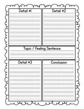 Narrative Writing Stems and Organizer
