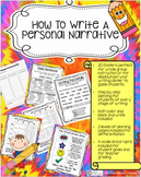Narrative Writing-Step By Step Posters and Guidelines-Rubr
