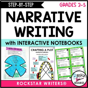 Step By Step Narrative Writing with Model Lessons, unit from Rockin Resources, available on TpT