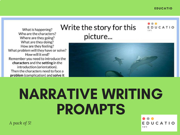 Narrative Writing Stimulus/Prompt (Pack of 5)