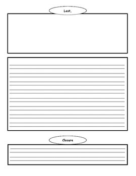 Narrative Writing Story Book Template / Graphic Organizer