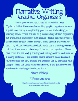 Narrative Writing ~ Story Stretch Graphic Organizers Writing Paper