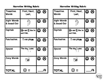 Narrative Writing Student Friendly Rubric- 6 Points