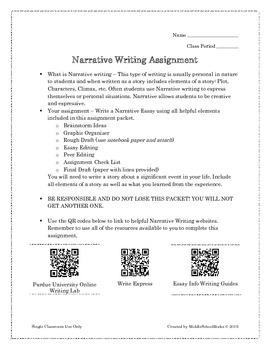 Narrative Writing Student Packet