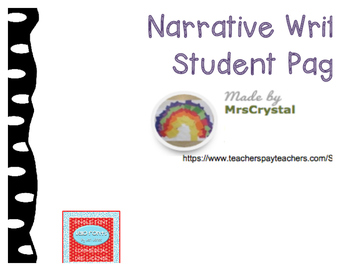 Narrative Writing Student Page