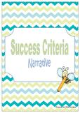 Narrative Writing - Success Criteria Checklist