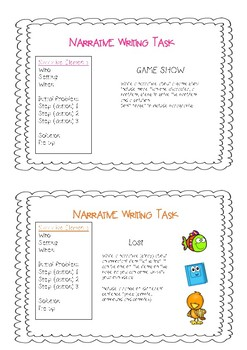 Narrative Writing Task Cards