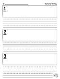 Narrative Writing Template / Graphic Organizer: Beginning, Middle, End