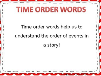 Narrative Writing ( Time Order Words) interactive power-point and activity