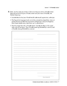 Narrative Writing: To the Student