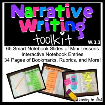 Narrative Writing Toolkit {Mini Lessons & Interactive Notebook Activities}