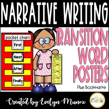 Narrative Writing Transition Words Posters